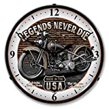Cheap Collectable Sign and Clock SM1103308 14″ Legends Motorcycle Lighted Clock