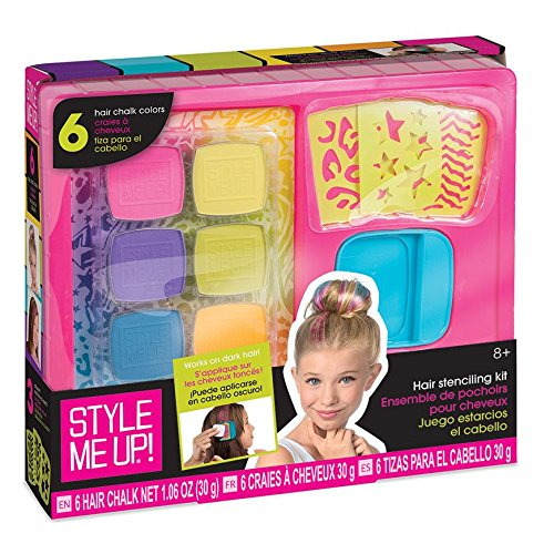 Style Me Up - Hair Chalk for Kids, Set of 6 Colors Hair Chalk with Stencils, Great Present for Children - SMU-1685 (The Best Hair Colour For Me)
