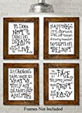 Harry Potter Quotes and Sayings Art Prints – Set of Four Photos (8×10) Unframed Picture