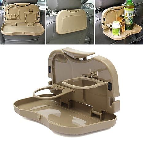 Mesa plegable para asiento trasero de coche,para bebidas y comidas en el automóvil,