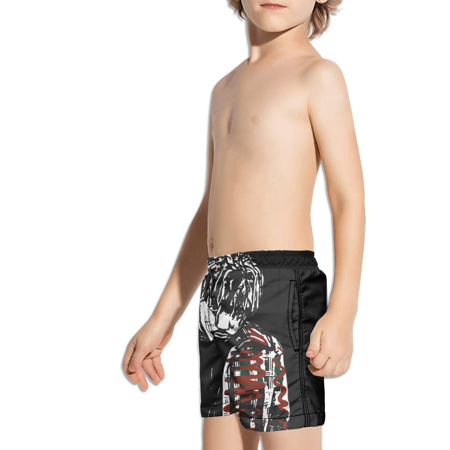 Kids Printed Beach Solid Swimming Trunks Side Split Shorts