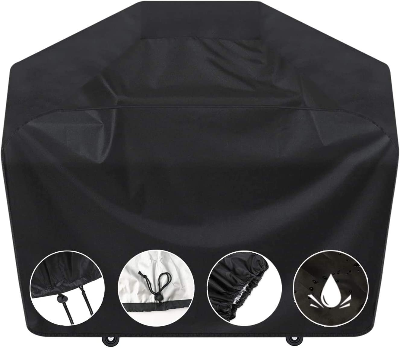 SARCCH Grill Cover, 58- inches BBQ Special Grill Cover, Waterproof, UV and Fade Resistant, Durable and Convenient, Black,Fits Grills of Weber Char-Broil Nexgrill Brinkmann and More, : Garden & Outdoor