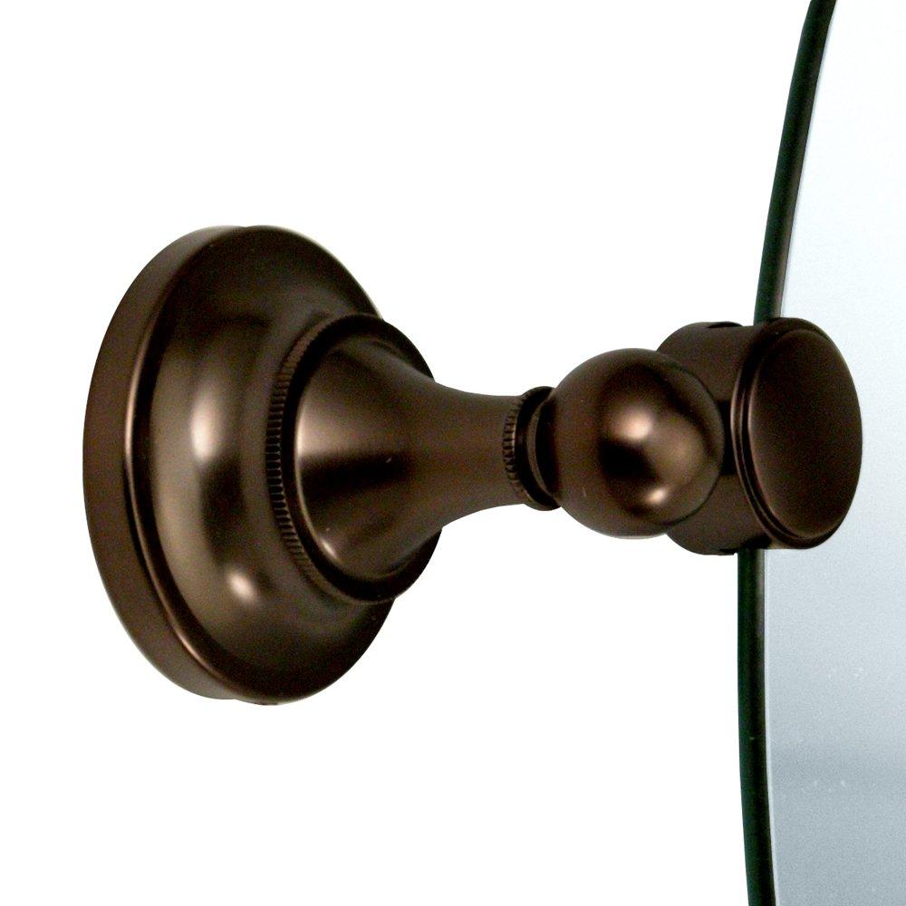 Gatco 4349LG Tiara Large Oval Wall Mirror, Bronze