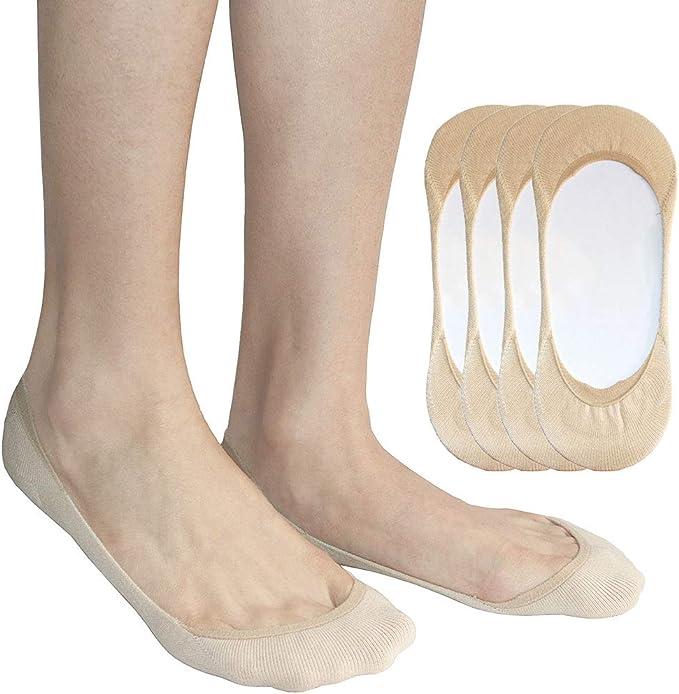 AUTPRO Calcetines Invisibles Mujer Cortos Algodón Calcetines Con Antideslizante, Calcetín Ultra Bajo para Tacones Bomba Lona Zapatos del Barco: Amazon.es: Ropa y accesorios