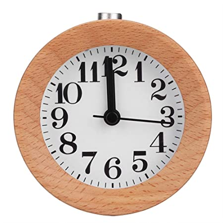 Cafopgrill Reloj Despertador de Madera Reloj de Mesa Función de ...