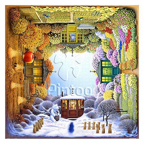Pintoo - H1918 - Jacek Yerka - Four Seasons - 1600 Piece Plastic Puzzle