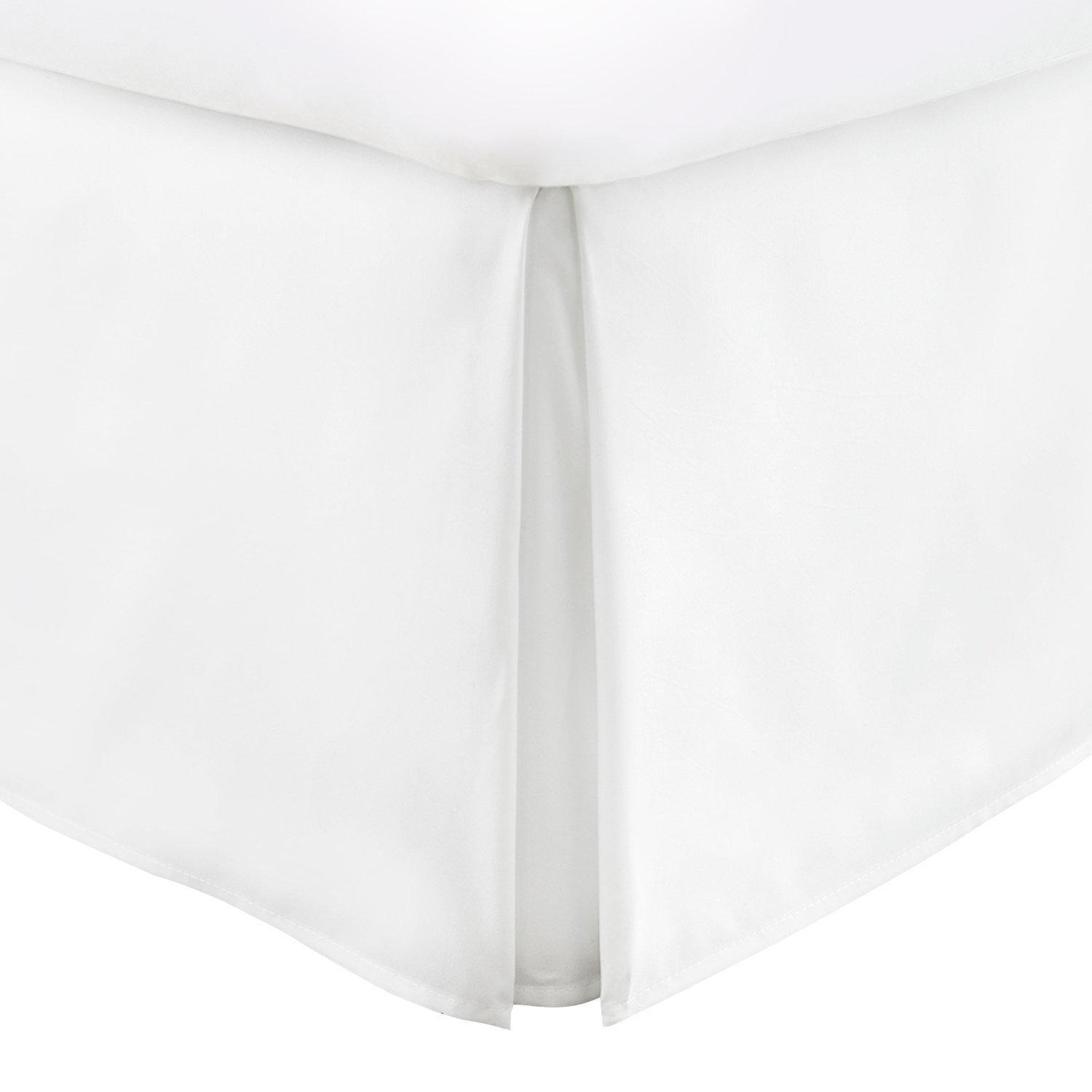 BeddingCollection Bed-Skirt 18''Inch Decorative 600 Thread-Count Hotel Top Quality 100% Egyptian Cotton Soft King Size White Solid