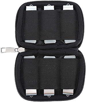 Pouybie - Bolsa de Almacenamiento USB para Disco Duro de Disco Duro (10/6 Bandas elásticas, para Tarjetas de Memoria de Disco Duro): Amazon.es: Electrónica