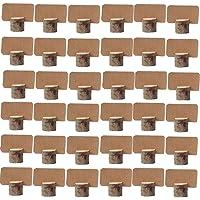XYJIE - 36 soportes de madera para tarjetas