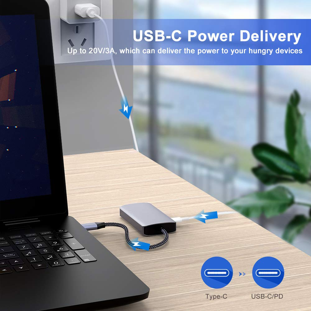 1080p VGA USB C Hub USB C to HDMI VGA Adapter with 4K HDMI Type C Hub Adapter USB 3.0 Port USB C Power Delivery Compatible with Macbook Pro 2016//2017//2018 and USB C Devices