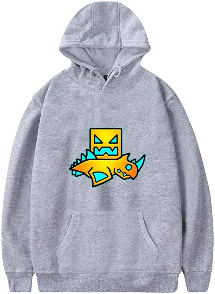 QAX-GTD Geometry Spider Dash Men's Casual Sweater Sweatshirt with Pocket Pullover Hoodies Hooded Hat Pouch Cotton Jacket