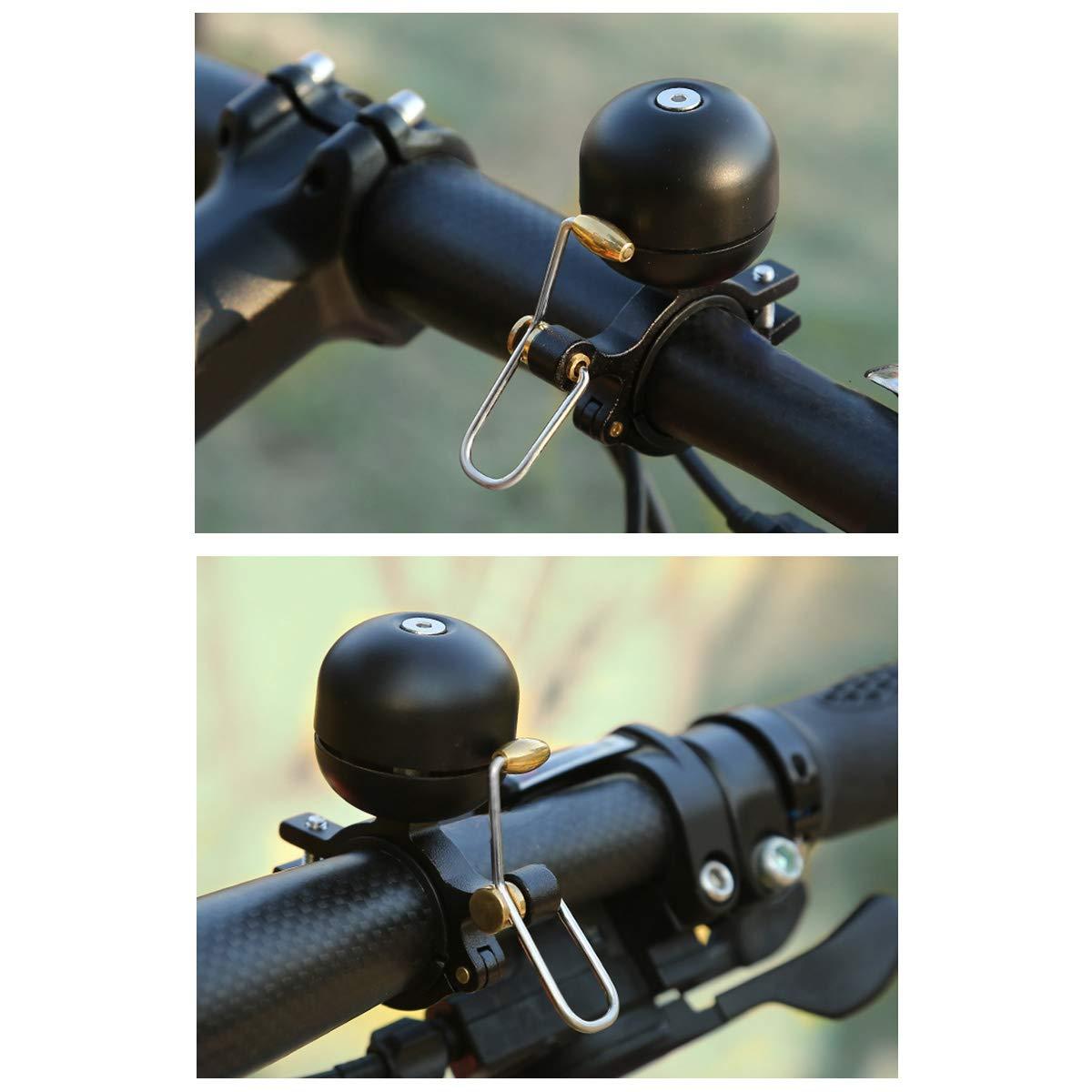Campana para bicicleta ligera y retro Campana para bicicleta con destornillador para manillar de 22 a 30 mm Campana para bicicleta con anillo de aleaci/ón de aluminio Campana para bicicleta