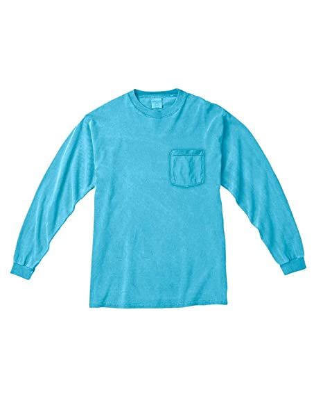 b454b444f Image Unavailable. Image not available for. Color: Comfort Colors Long-Sleeve  Pocket T-Shirt>M ...