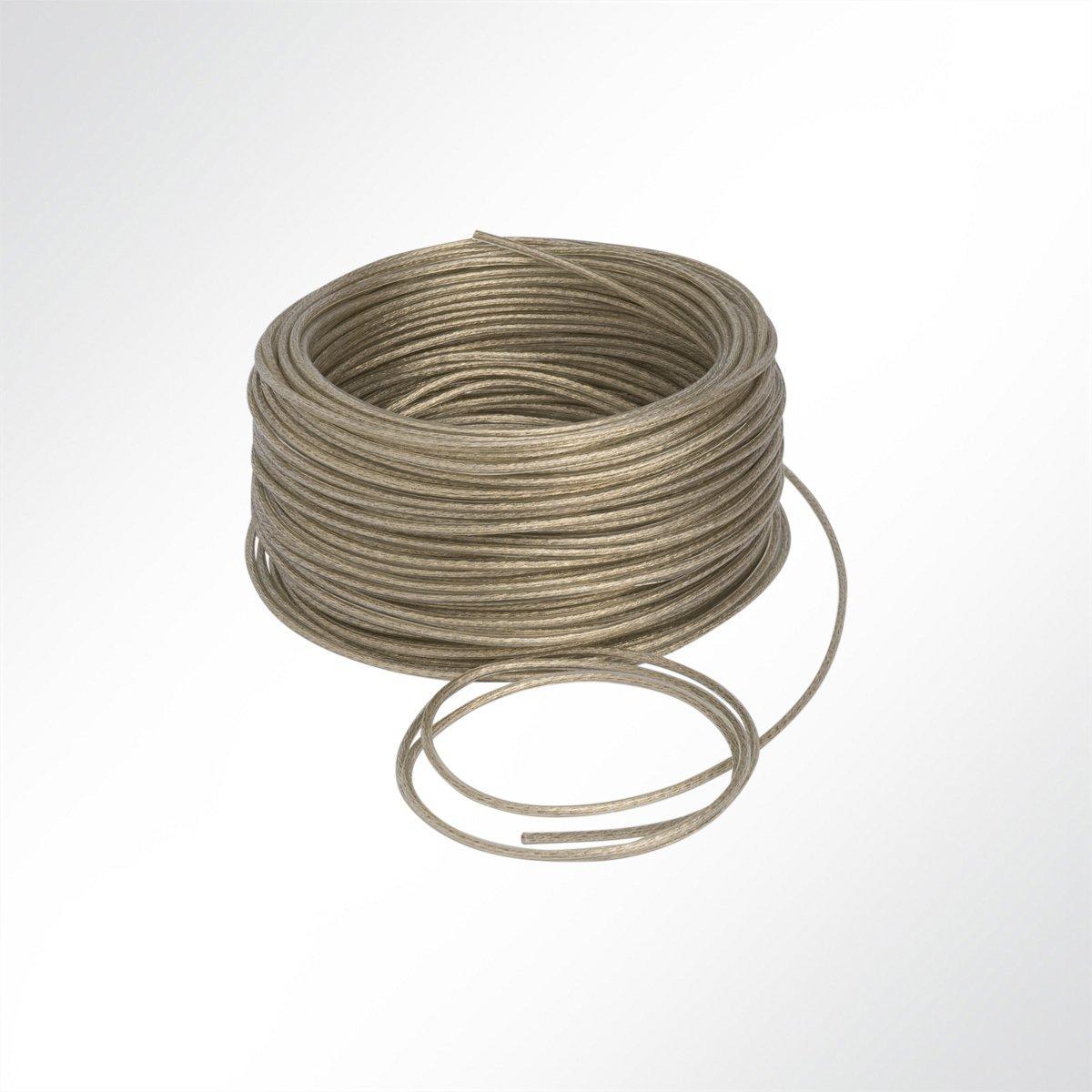 6mm in Grau 1 m D LYSEL Zollseil mit Edelstahleinlage und PVC Ma,