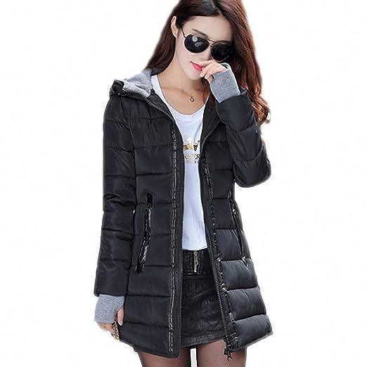 46b3ec9a7 Amazon.com: Hiuwa Womens Parka Warm Winter Jackets Down Cotton ...