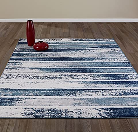 Diagona Designs Contemporary Stripes Design Modern 8' by 10' Area Rug, 7'10