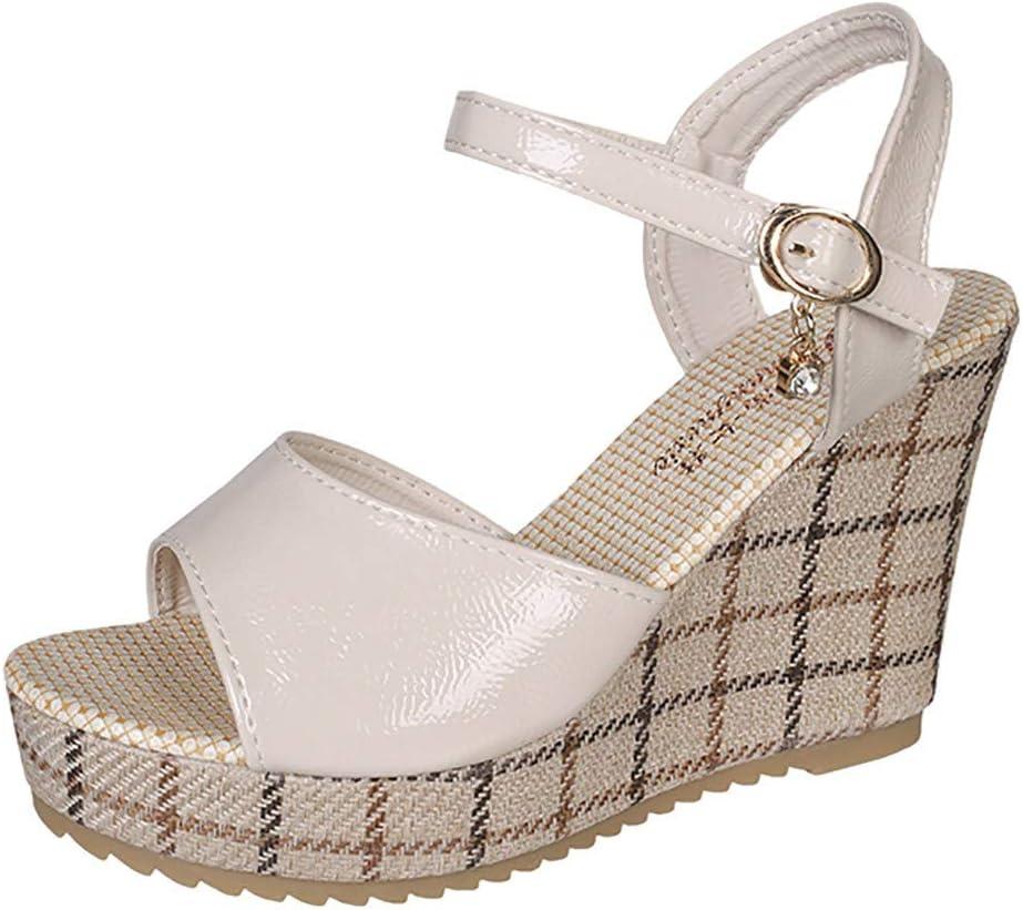 AG&T Zapatos Deportivos de Moda de Mujer Zapatos Blancos Gruesos ...