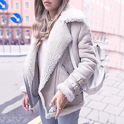 Amazon.com: Baulody Aviator Jacket Women Faux Fur Fleece Coat Outwear Warm Lapel Motor Winter (Black, Medium)