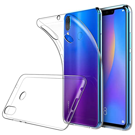 Simpeak Funda Compatible Huawei P Smart Plus (6,3 Pulgadas), Fundas Transparente Huawei P Smart Plus Carcasa Huawei P Smart + Silicona TPU Case
