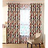 AliFish 1 Panel Geometric Triangle Pattern Thermal Insulated Blackout Curtains Room Darkening Heavy and Thicken Fabric Curtains for Boys Girls Kids Room Grommet Process W39 x L63 inch