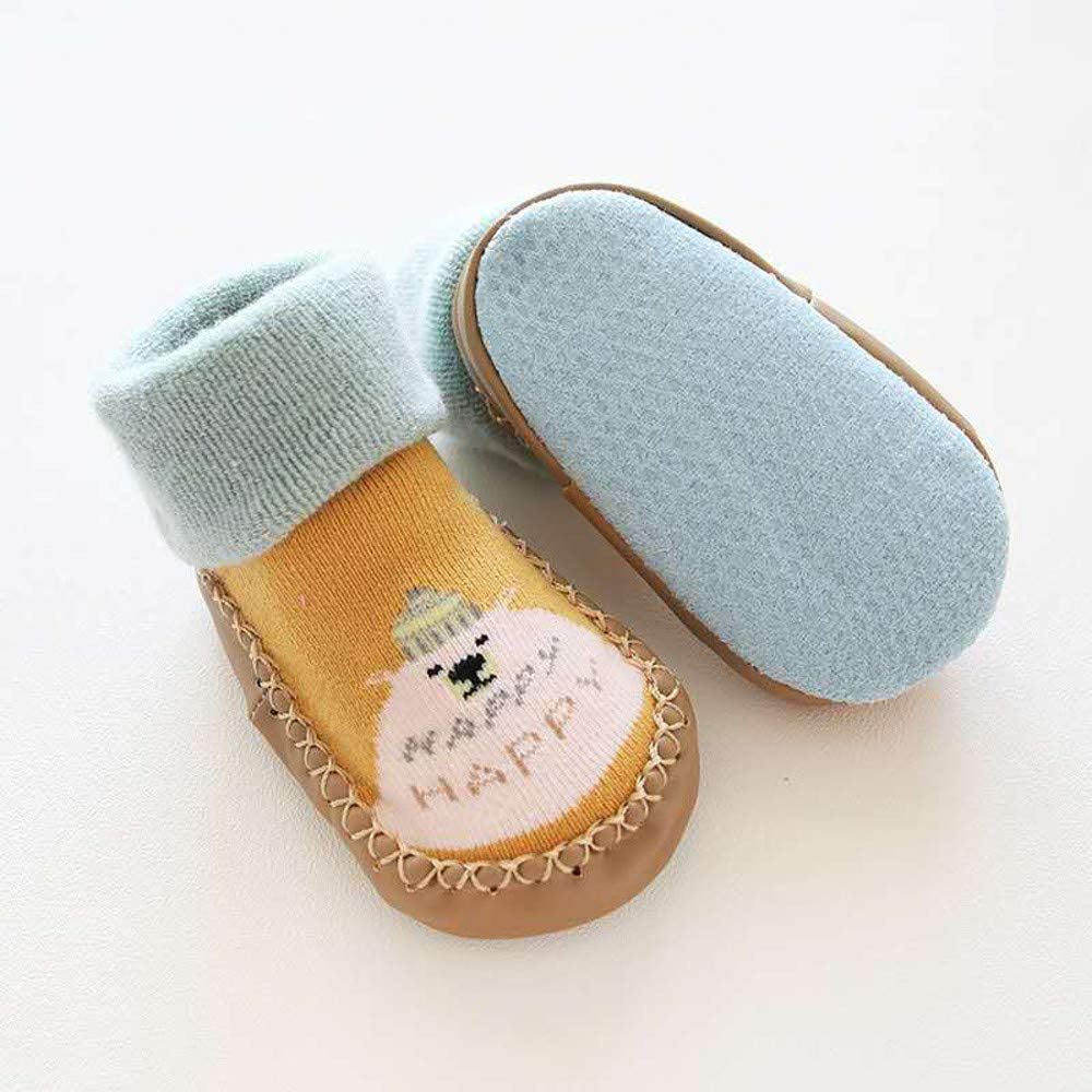 Mitlfuny Unisex Babyschuhe M/ädchen Jungen Anti-Slip Socken Slipper Stiefel,Kleinkind Infant Baby Jungen M/ädchen Cartoon Tier Anti-Rutsch-Schuhe gestrickte warme Socken