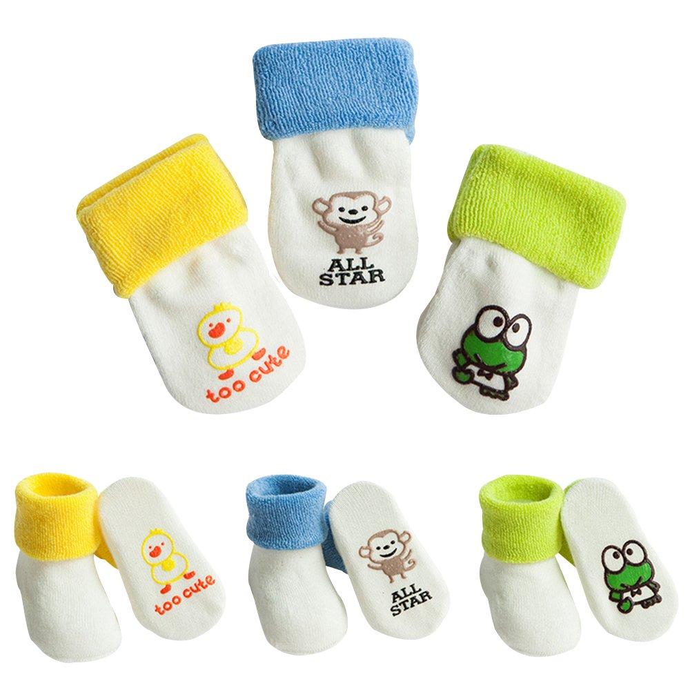 Baby Anti Slip Socks Toddler Kids Cotton Socks 0-3 Years