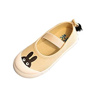LINGGO Kids Cute Cartoon Casual Canvas Flats Shoes (Toddler/Little Kid)