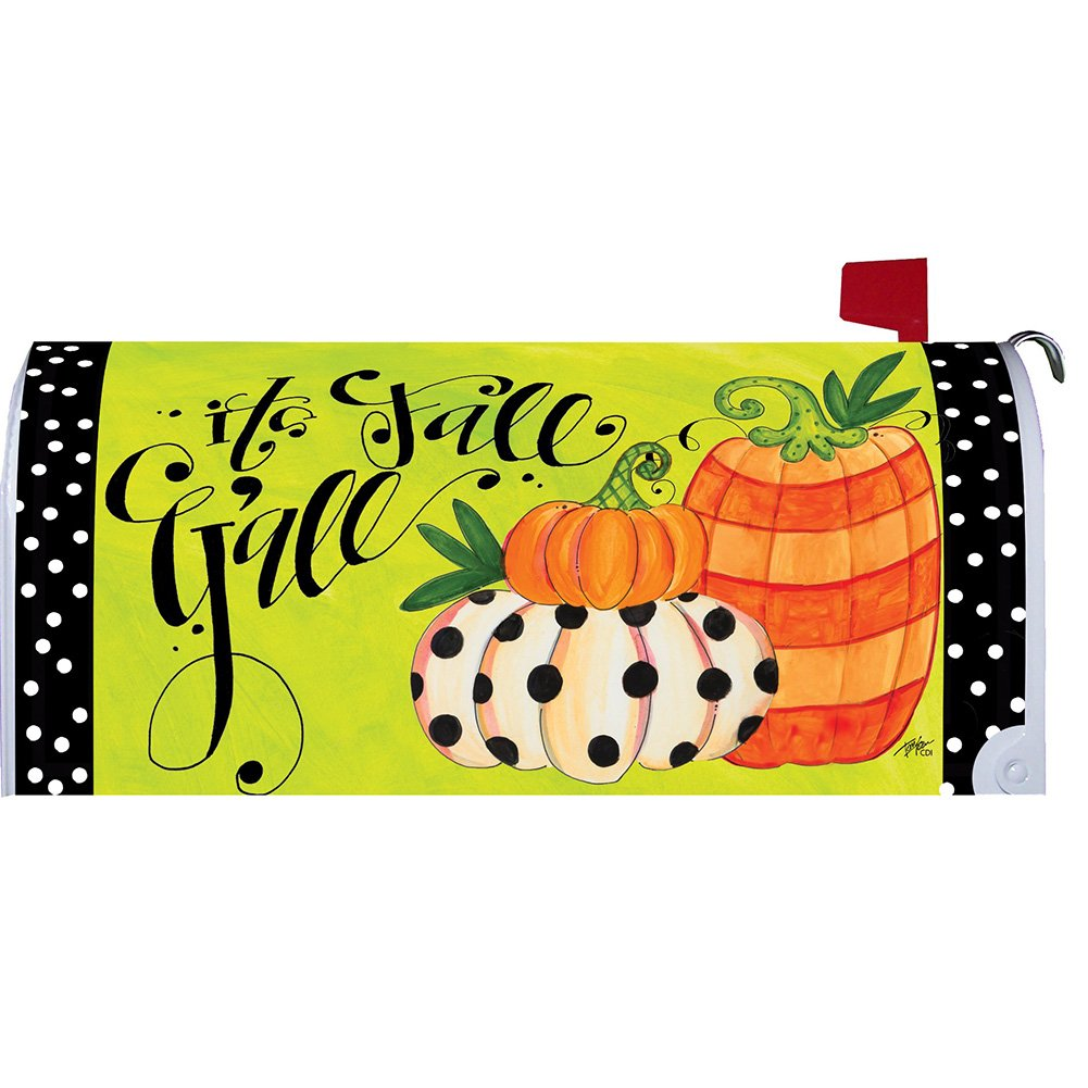 It's Fall Y'all - Mailbox Makeover - Vinyl with Magnetic Strips - Licensed, Copyrighted and Made in the USA by Custom Decor Inc.