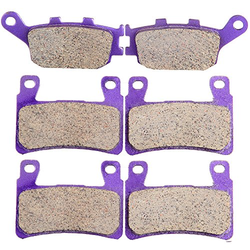 ECCPP FA296 Brake Pads Front and Rear Carbon Fiber Replacement Brake Pads Kits Fit for 1999-2000 Honda CBR600F4,2001-2006 Honda CBR600F4i,2003-2004 Honda CBR600RR ()