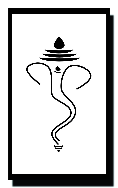Ravgar lord ganesha sketch art ganpati bappa mauraya canvas