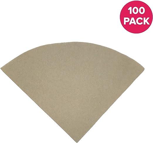100 filtros de café de papel sin blanquear de recambio compatibles ...