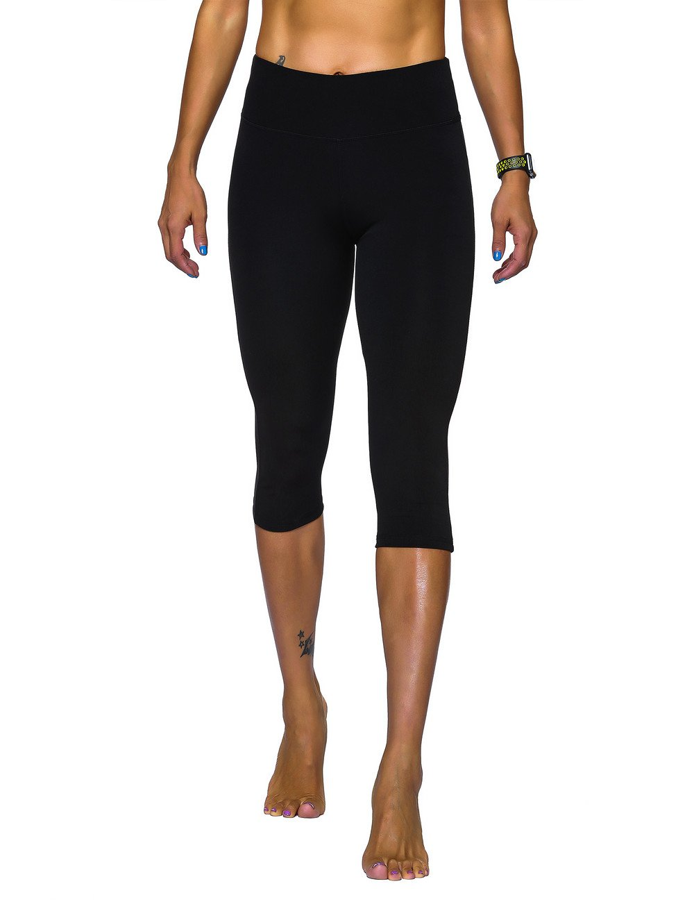 Unitop Women's Leggings Stretchy High-Waist Legging Black L
