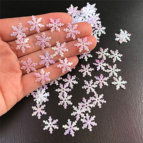 AKOAK 300 Pcs/Pack Christmas Snowflakes Confetti for Christmas Wedding Birthday Holiday DIY Party Decorations Supplies Home Garden Decor Xmas Tree Decoration from AKOAK