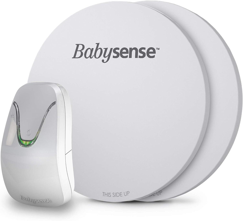 BabySense El nuevo monitor de movimiento respiratorio para bebés debajo del colchón 7 - El monitor infantil original sin contacto y certificado médicamente - con 2 almohadillas de sensores