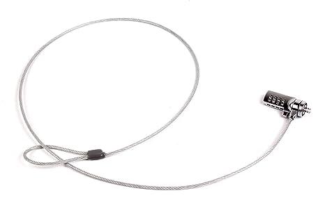 DURAGADGET Candado De Combinación Y Cable antirrobo para ordenador portátil ASUS Eee PC 1008HAG, 1008P