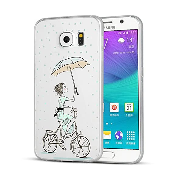 Caler Funda Galaxy S6 Edge Plus, Carcasa Silicona Gel Case ...