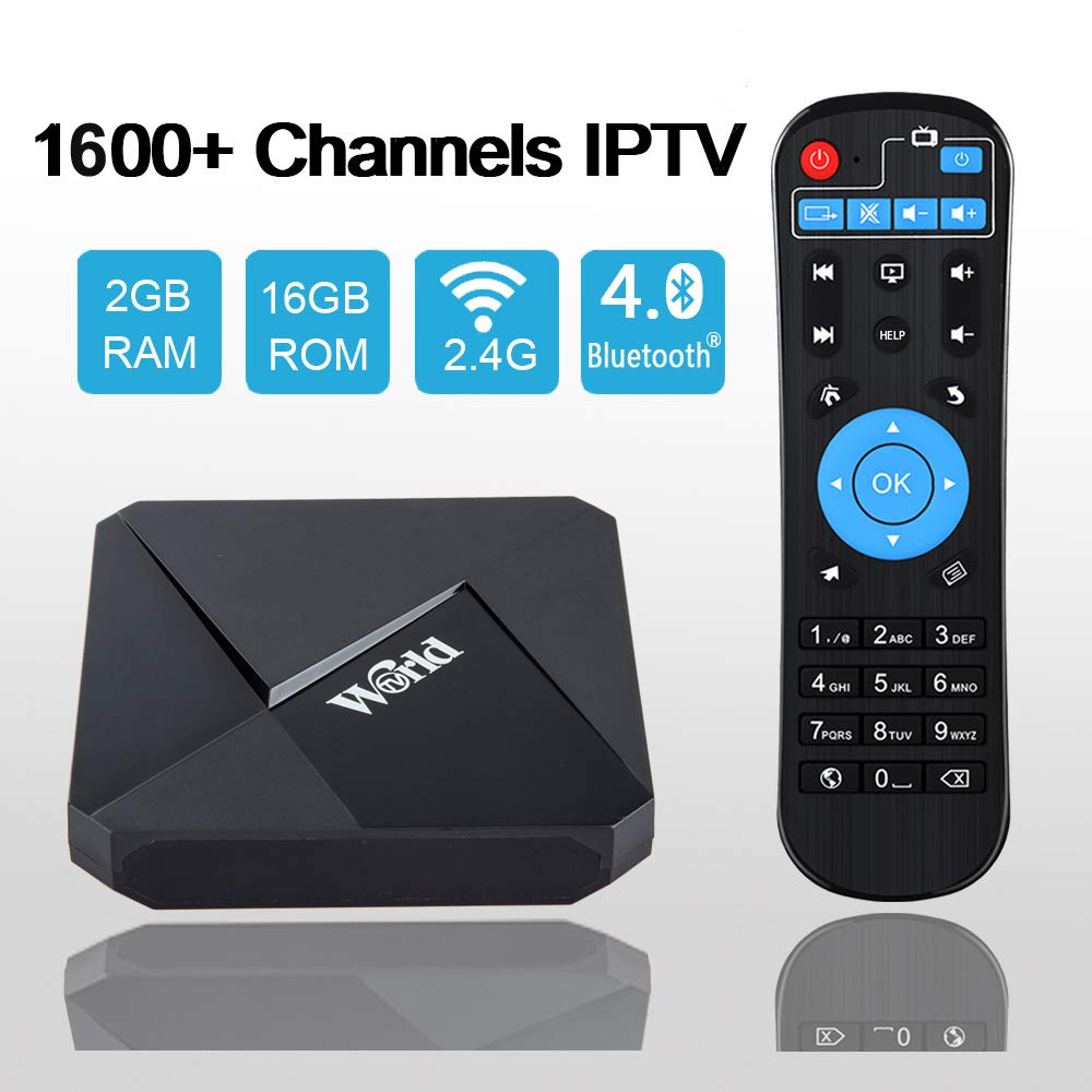 2020 New IPTV Receiver Box Over 1600 International Channels from India Brazil Arab US Europe No Subscription Fee