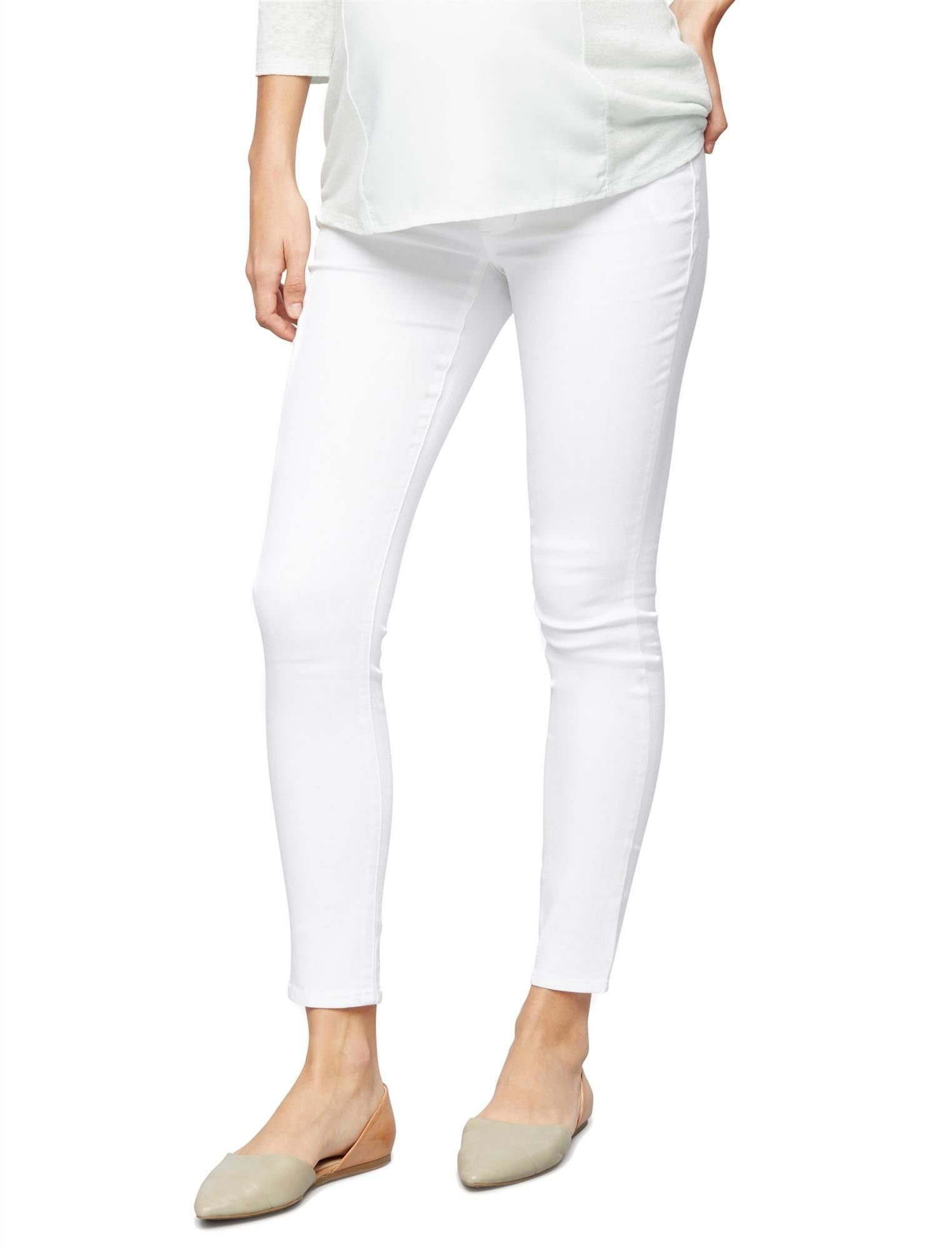 A Pea in the Pod Luxe Essentials Denim Secret Fit Belly Skinny Ankle Maternity Jeans