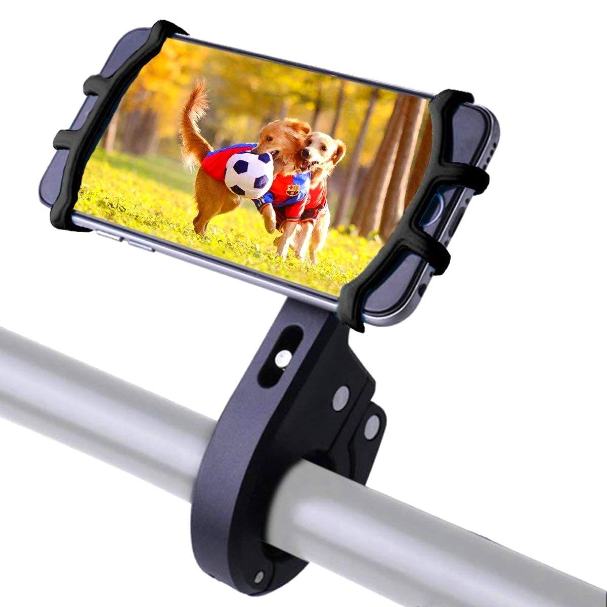 Tenshine Handyhalterung Fahrrad,Universal Handy Halterung Motorrad Handyhalter, 360 Drehen GPS Halter Smartphone Fahrradhalterung kompatibel iPhone X 8 Plus Samsung Galaxy S9 Plus S8 S7 S6