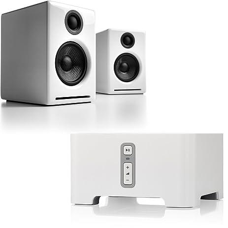 Audioengine A2 Powered Bookshelf Speakers White Sonos CONNECT Digital Multi Room Music System