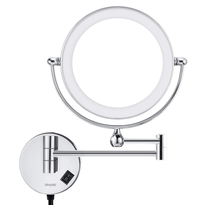 Specchio da bagno LED 5X Ingrandimento + Normale