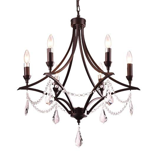 Amazon.com: Mirrea - Lámpara de araña con colgante de ...