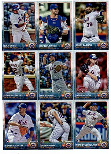 2015 Topps Baseball Cards New York Mets Complete Master Team Set (Series 1 & 2 + Update - 42 Cards) With Noah Syngergaard Rookie, Steven Matz Rookie, Curtis Granderson, Team Card, David Wright, Jacob deGrom, Daisuke Matsuzaka, Daniel Murphy in Protective Snap Case