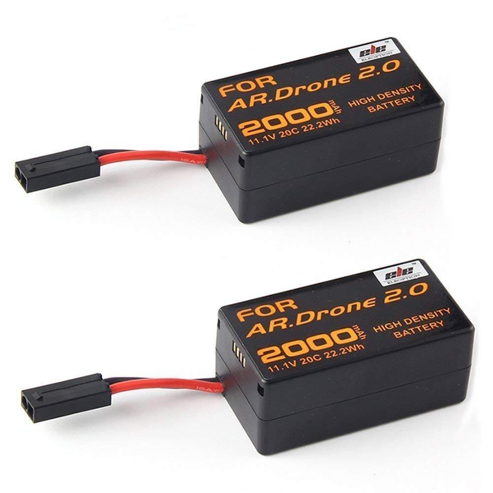 2個2000 mAh 11.1 V高容量拡張フライト回充電式バッテリーパック交換用アップグレードfor Parrot AR。ドローン2.0 Quadcopterパーツ B06XB9CZBY