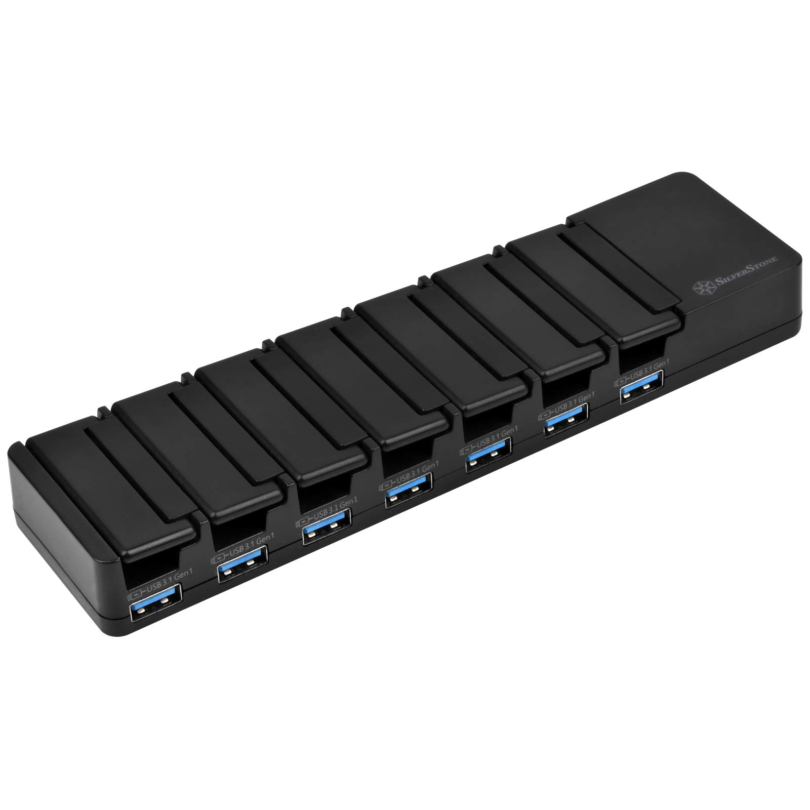 SilverStone Technology SST-UC03B-PRO 7 Port USB 3.1 Data Transfer and Charging Station with 5V/2.4A Fast Charging UC03B-Pro