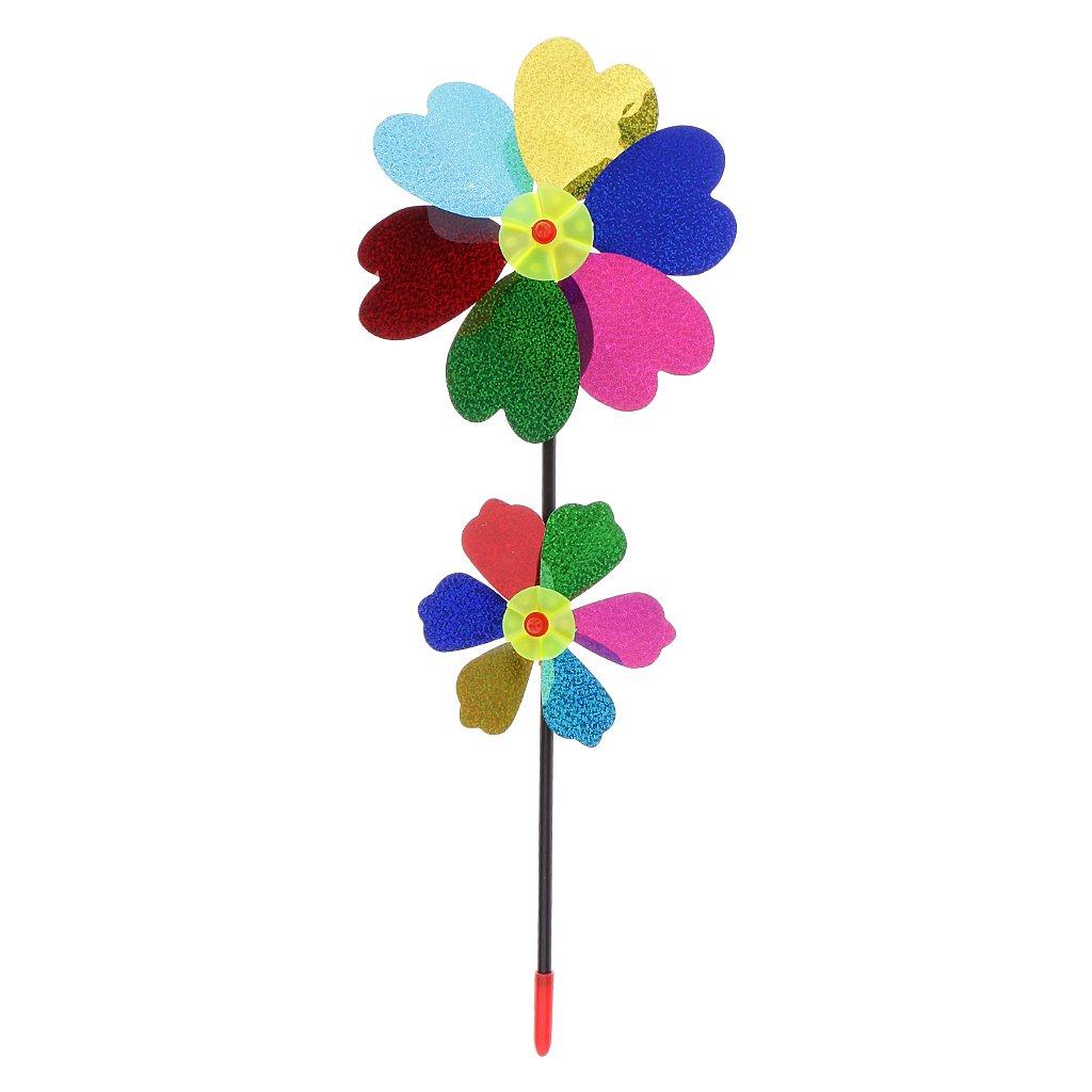 Sharplace DIY Blumen Windmühle Spielzeug - aus Kunststoff - Einfach zu Montieren - Kinder Garten Spielplatz Spaß Spielzeug - # 1