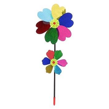 Sharplace Diy Blumen Windmühle Spielzeug Aus Kunststoff Einfach