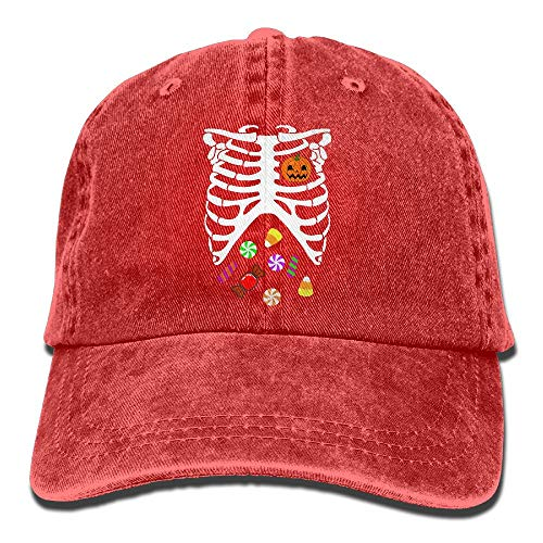 2018 Adult Fashion Cotton Denim Baseball Cap Heart of Pumpkin Halloween Candy4-1 Classic Dad Hat Adjustable Plain Cap