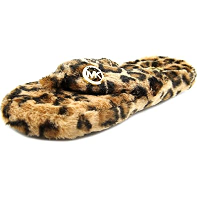 6296239622b4 Michael Michael Kors Jet Set Mk Faux-Fur Thong Slippers  Amazon.co.uk  Shoes    Bags