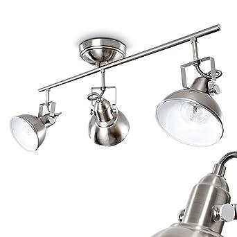 verstellbare Wohn Schlaf Zimmer Lampe LED Flur Strahler 3-flammig Decken Leuchte